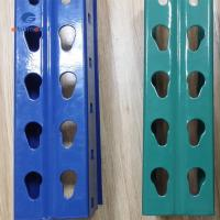 Selective Warehouse Teardrop Pallet Rack  Systems , Red / Blue Industrial Pallet Racking Systems Manufactures