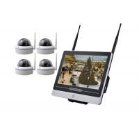 Metal Dome 4 Camera Security System With Dvr 12.5 Inch LCD Remote Viewing Real Time Manufactures