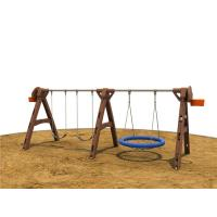 Galvanized Post Backyard Swing Sets Metal  With Todder Seat for Children Manufactures