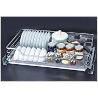 Modern Style Kitchen Pull Out Basket With 3-Dimensional Adjustable Front Connection Manufactures