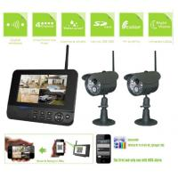 4CH Digital Wireless Video Surveillance Camera Systems 7 LCD Monitor