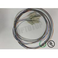 Buy cheap Pack Of 6 Color Coded Single Mode Pigtail Om3 900um Legs SC / PC - PT 2m from wholesalers