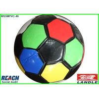 Quality Customized Black PVC PU Leather Colorful Soccer Balls for Training for sale
