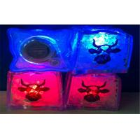 Water Sensor Diamond Blue Pink LED Ice Cubes / Lighted Ice Cubes For Drinks Manufactures