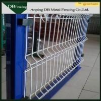 Security Galvanized Welded Wire Fence , Curved Fence Panels For Parks / Roads Manufactures