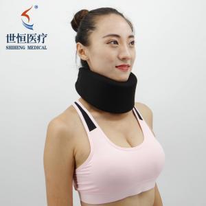 China Soft Neck Support Sponge Cervical Collar Relieves Pain Foam Neck Brace Adjustable on sale