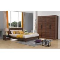 2016 New Nordic Design Bedroom Furniture Sets in Queen/King size Bed with Bespoke Cloth Cabinet and Side table Manufactures