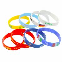 China best seller 2018 world cup Cool New Design National Football Country Flag Silicone Event Gym Fitness Wristband Travel Bracelet on sale