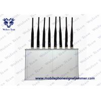 Quality High Power 8 Antennas 16W 3G 4G Mobile Phone WiFi Jammer with Cooling Fan for sale