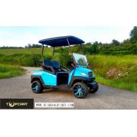 China Road Legal 2 Seater Golf Buggy Utility Cart With 48 V Battery Power , Red Color on sale