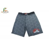 Colorful Sublimated Printed Board Shorts Custom Microfiber Fabric Wave Stripe Manufactures