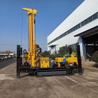 Multifunctional Hydraulic Well Drilling Rig Machine Drilling Depth 400m With Crawler
