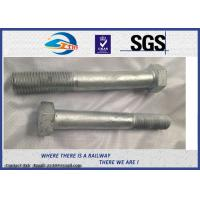 China Railway High Strength Hex Bolts Grade 10.9 M24 With HDG Coating on sale