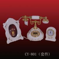 ployresin resin corded and cordless antique telephone christmas gift OEM(CY-801) Manufactures