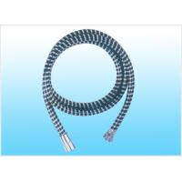 Metal Braided PVC Shower Flexible Hose Black With 2m Stainless Steel Manufactures
