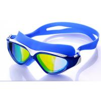 High Performance Swimming Goggles , Eye Goggles For Swimming Blue Color Manufactures