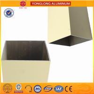 Rectangle Powder Coated Aluminium Extrusions / 6063 6063A Aluminum Window Frame Profile Manufactures