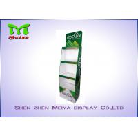 3 Tiers Green color custom cardboard displays shelf  for LED bulbs Manufactures