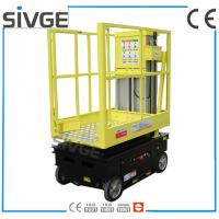 5m Working Height Aerial Scissor Lift Self Driven / Motor Driven For Fixture Works Manufactures