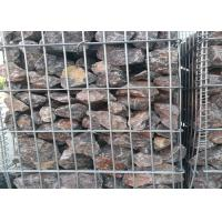 Square / Oblong Hole Galvanized Gabion Box , Welded Gabion Wall Cages 1 X 1 X 1 M Manufactures