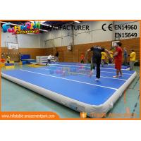 China 0.9mm PVC Tarpaulin Jumping Inflatable Gym Airtrick Mat / Blow Up Tumbling Mat on sale
