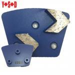2 Arrow Segment Trapezoid metal bond diamond shoes with Screw backing Manufactures