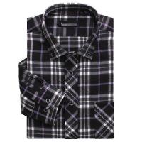 100% cotton yarn dyed flannel men's long sleeve soft collar casual shirts Manufactures