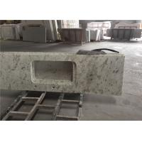 White Granite Prefab Kitchen Countertops With Polished Eased Edge Customized Size Manufactures
