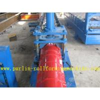 Glazed Metal Roof Ridge Cap Roll Forming Machine For Cinema Cap Half round Ridge Cap Manufactures