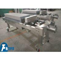China Filter precision 200 mesh Stainless Steel Filter press with Stainless Steel Plate For Food industrial treatment on sale