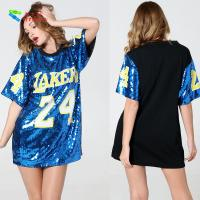 Buy cheap Number 24 Ladies Sequin Dress / Blue Adults Sequin Hip Hop Dance Costumes from wholesalers