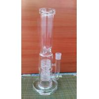 High-quality Cheap Popular glass water bongs 7mm thick 2 barrel percglass water pipe wp531 Manufactures