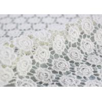 Ivory Cotton Lace Fabric Guipure French Venice Lace Wedding Dress Fabric Openwork Manufactures