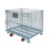 Widely Use in warehouse and factory storage stackable foldable wire containers Manufactures