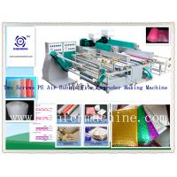 Plastic LLDPE / LDPE Air Bubble Film Making Machine With Good T-die Head Manufactures