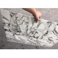 White With Black Veins Ultra Thin Stone Marble Tile For Decoration Manufactures
