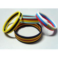 Screen Printing Elastic Silicone Rubber Bands Soft with Multilayer Colors Manufactures