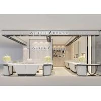 Fashion Wooden Glass kiosk jewelry display For Mall White Color Manufactures