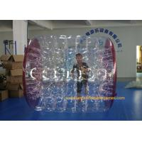 Kids Human Hamster Clear Inflatable Body Rolling Ball In Aqua Park 2.4 * 2.2 * 1.6m Manufactures