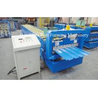 3kw Blue Corrugated Roofing Sheet Roll Forming Machine With Chrome Plated Manufactures