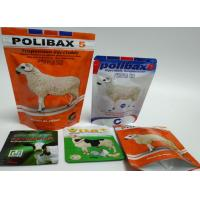 Safe Plastic Bag Food Packing Bag Dog / Cat / Turtle / Fish Food Pouches With Reusable Ziplock Manufactures