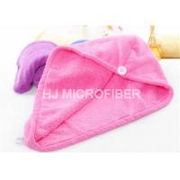 China Pink Hair Drying Tuban Microfiber Bath Towels 80% Polyester Easy Cleaning on sale