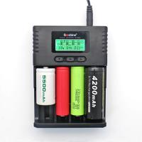Soshine H4 LCD Charger for Li-ion/NiMH/ LiIFePO4 battery 14500 18350 18650 26650 AA AAA C Manufactures