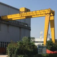 China 50 Ton Electric Overhead Crane / Electric Semi Gantry Crane 30m Lifting Height on sale