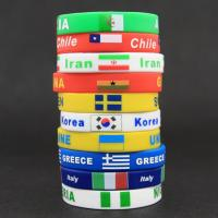 Countries Flag Design RFID Silicone Bracelets With Silk - Screen Printing Manufactures