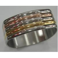 Wholesale Costume Jewelry Stainless Steel Bangles with 3 Colors for Women Manufactures