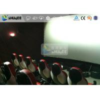 Quality Interaction Reality 7D Movie Theater With Red Fiber Glass Motion Seats for sale