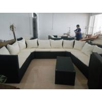 China Customize indoor outdoor rattan furniture sofa set of six, rattan lounge chair, deck chair on sale