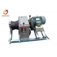 3T 5T Electric Gas Engine Powered Winch For Cable Pulling In Line Construction Manufactures