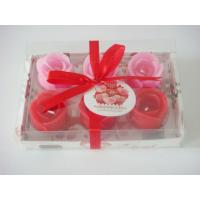 Romatic rose flower candle set for valentine's day Manufactures